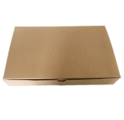 Customized Garment Packaging Boxes One Piece Brown Kraft Paper Packing Box