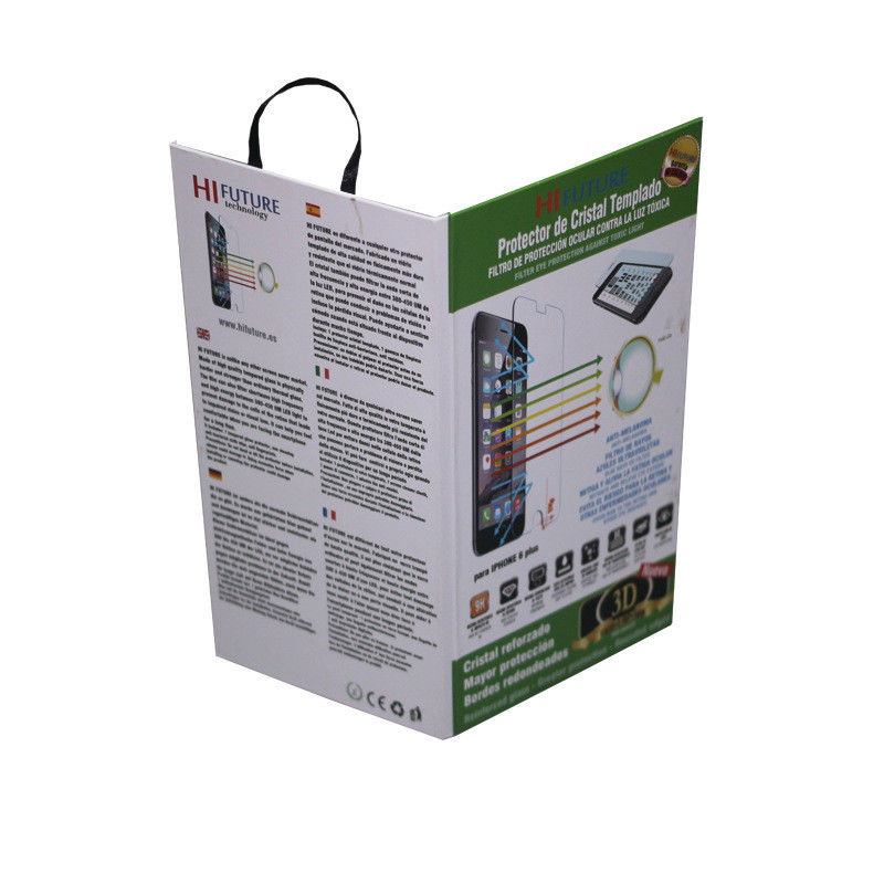 Recycle Fancy Cell Phone Accessories Packaging Tempered Glass Packing Box