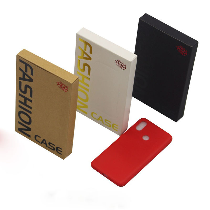 Embossed Printing Cell Phone Accessories Packaging , Mobile Cover Packaging Box