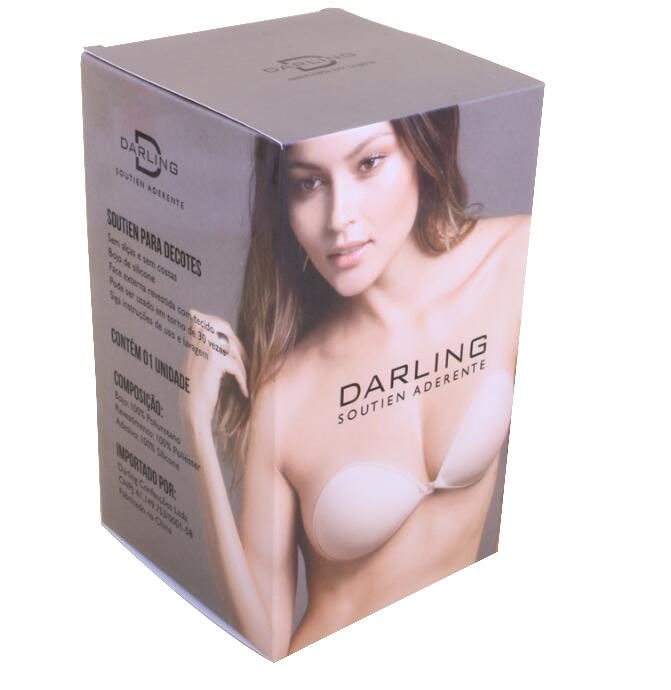 CMYK Foldable Bra Packaging Box Bio Degradable With Clear PVC Window